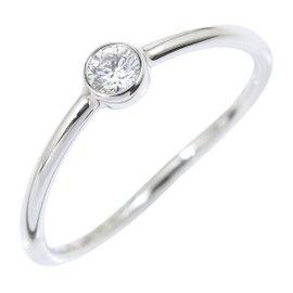 Tiffany & Co. 950 Platinum & Diamond Wave Single-Row Ring Size 3