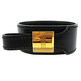 Hermes Gold Tone Hardware & Leather Artemis Bracelet Bangle Bracelet