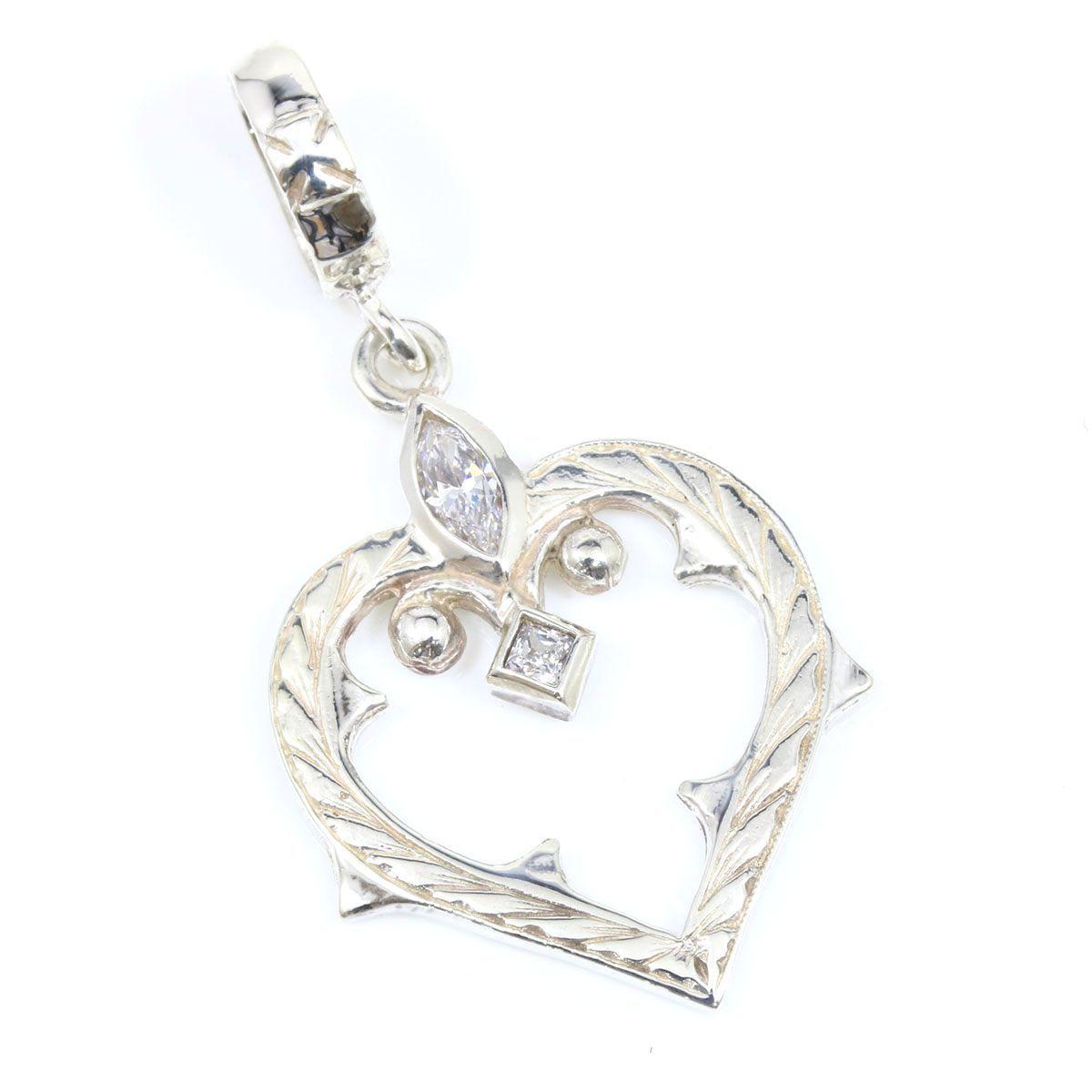 """Image of """"Loree Rodkin 925 Sterling Silver & Zirconia Heart Pendant"""""""