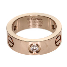 Cartier Love 18K Rose Gold with Diamond Ring Size 4.5