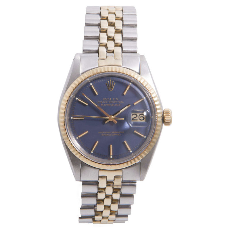 """Image of """"Rolex Datejust Stainless Steel / 14K Yellow Gold with Blue Stick"""""""