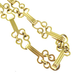 Chanel Gold Tone Hardware with CC Chain Vintage Necklace