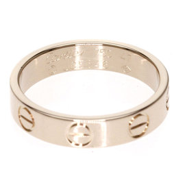 Cartier Mini Love 18K Pink Gold Ring Size 4