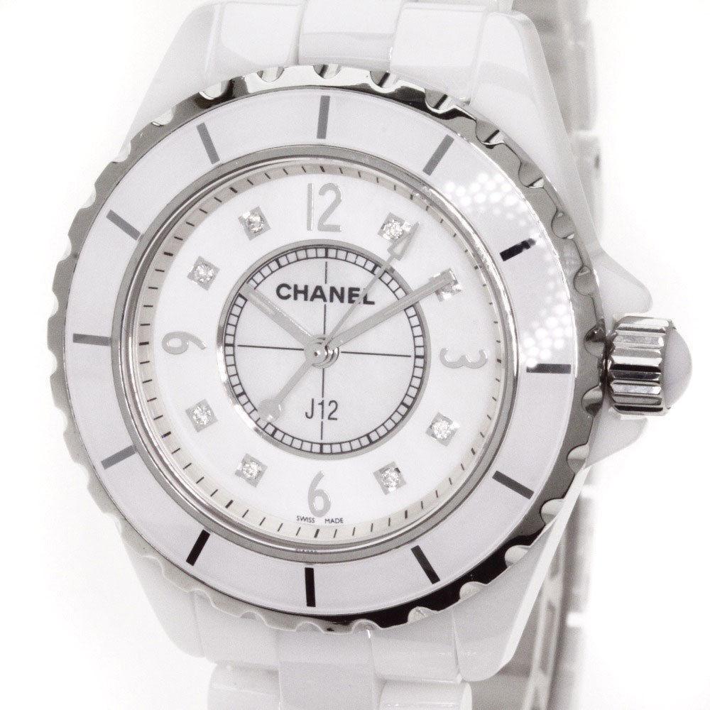 "Image of ""Chanel J12 H2422 Stainless Steel & Ceramic with Diamond Quartz 34mm"""