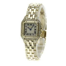 Cartier Pantheresm 18K Yellow Gold with Diamond Quartz 22mm Womens Watch