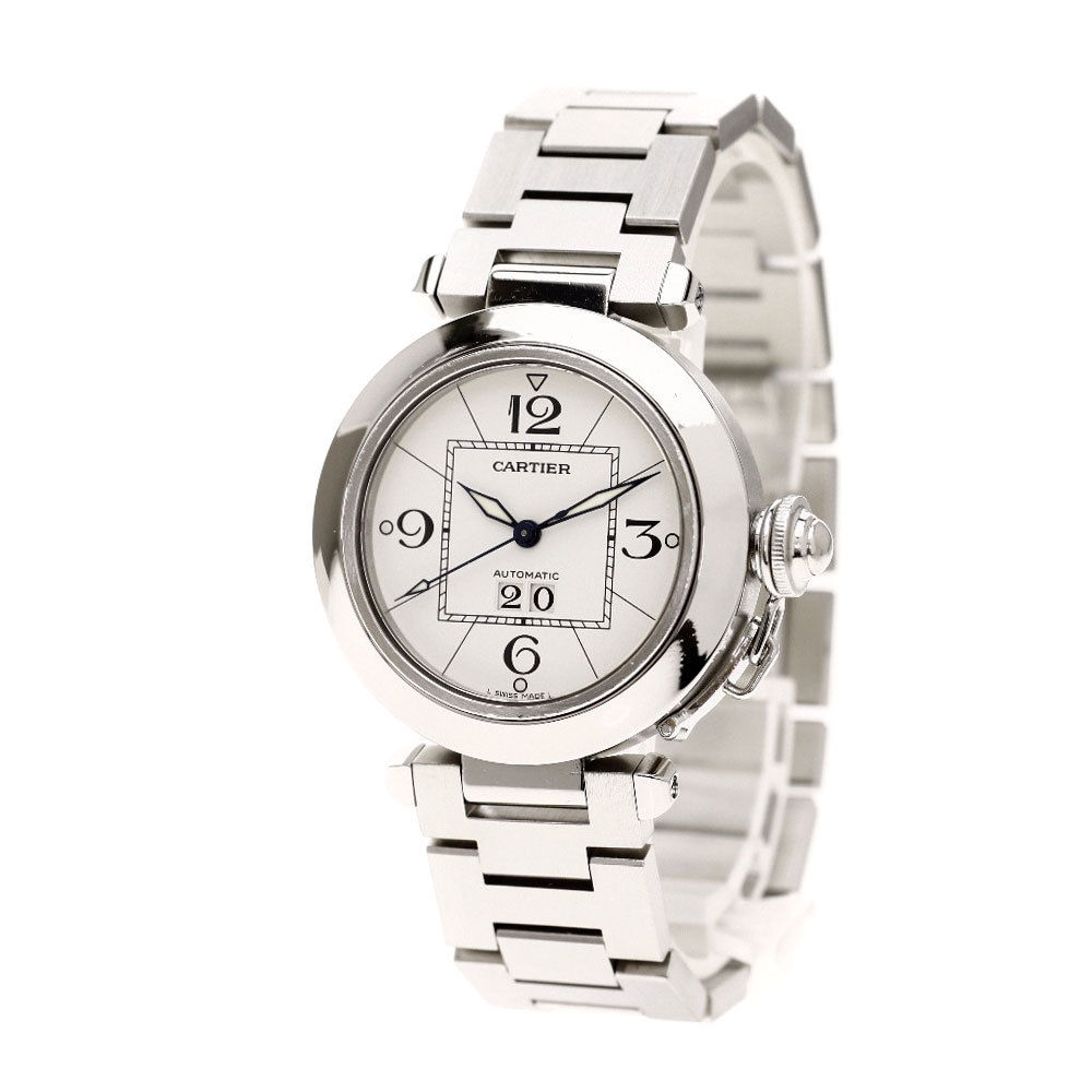"Image of ""Cartier Pasha C 2475 Stainless Steel Automatic 36mm Mens Watch"""