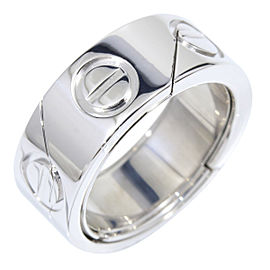 Cartier Love Astro 18K White Gold Ring Size 4.25