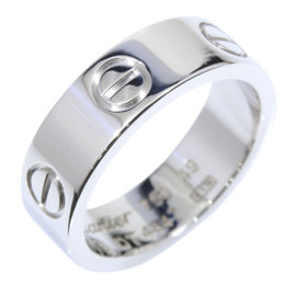 Cartier Love 18K White Gold Ring Size 5