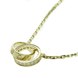 Cartier Baby Love 18K Yellow Gold With Diamond Necklace