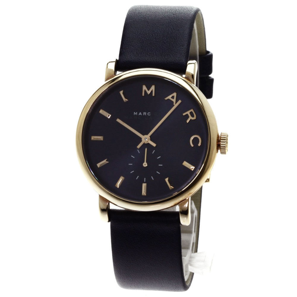 "Image of ""Marc by Marc Jacobs Mbm1329 Gold Plated & Leather Quartz 36mm Mens"""