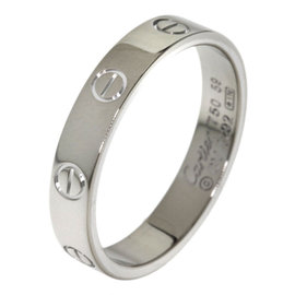 Cartier Mini Love 18K White Gold Ring Size 8.5