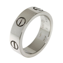 Cartier Love 18K White Gold Ring Size 5.5
