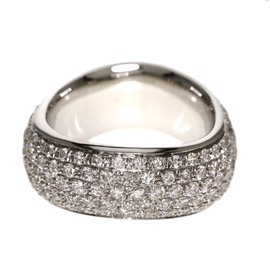 18K White Gold with 3.5ct. Diamond Ring Size 5