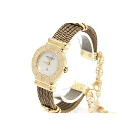 Charriol St-Tropez 028/2 Gold Plated Mother Of Pearl Diamond Dial 29mm Womens Watch