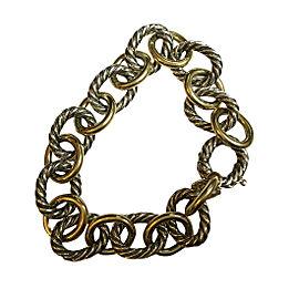 David Yurman Sterling Silver & 18K Yellow Gold Bracelet