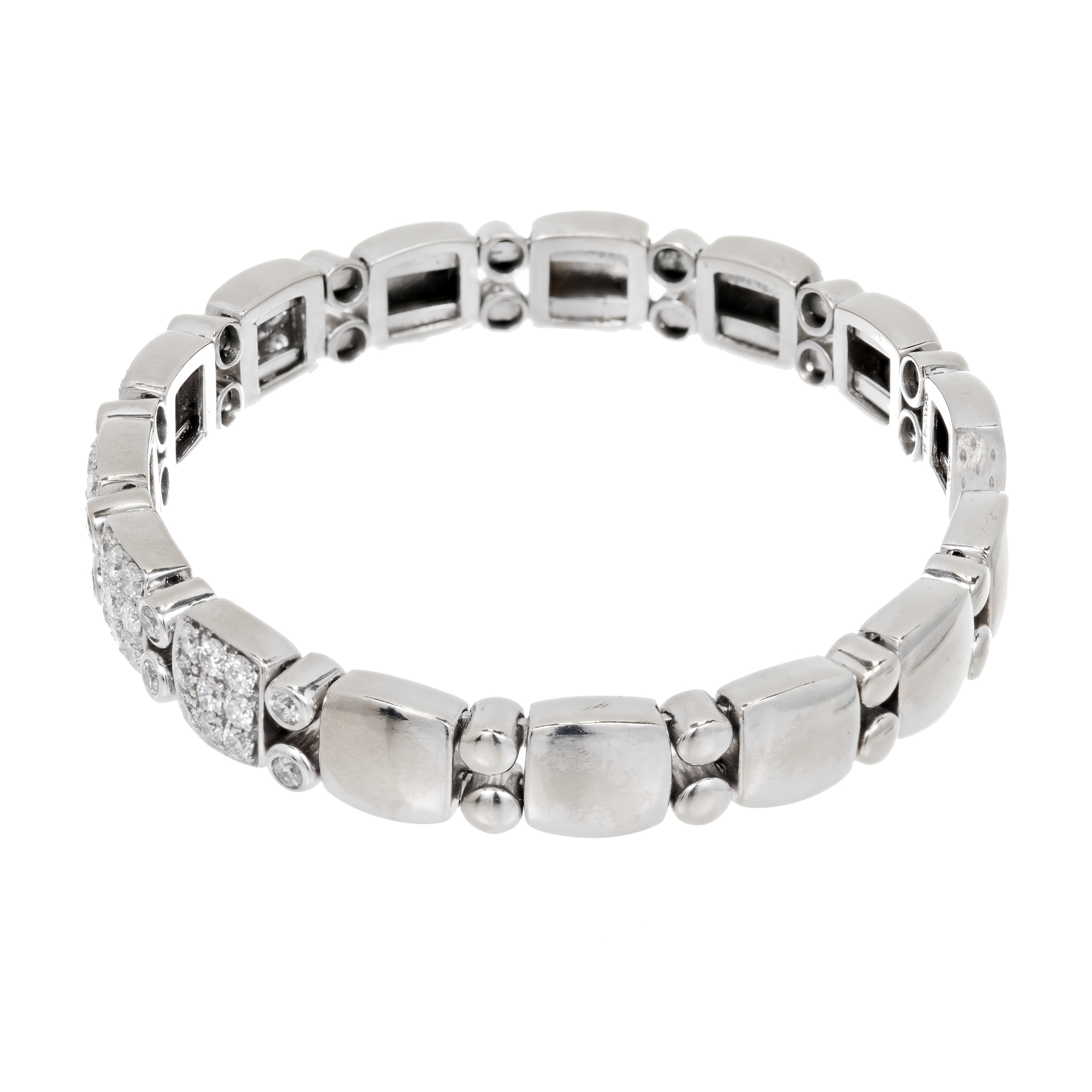 "Image of ""Sonia B 14K White Gold with 1.70ct. Diamond Flex Bracelet"""