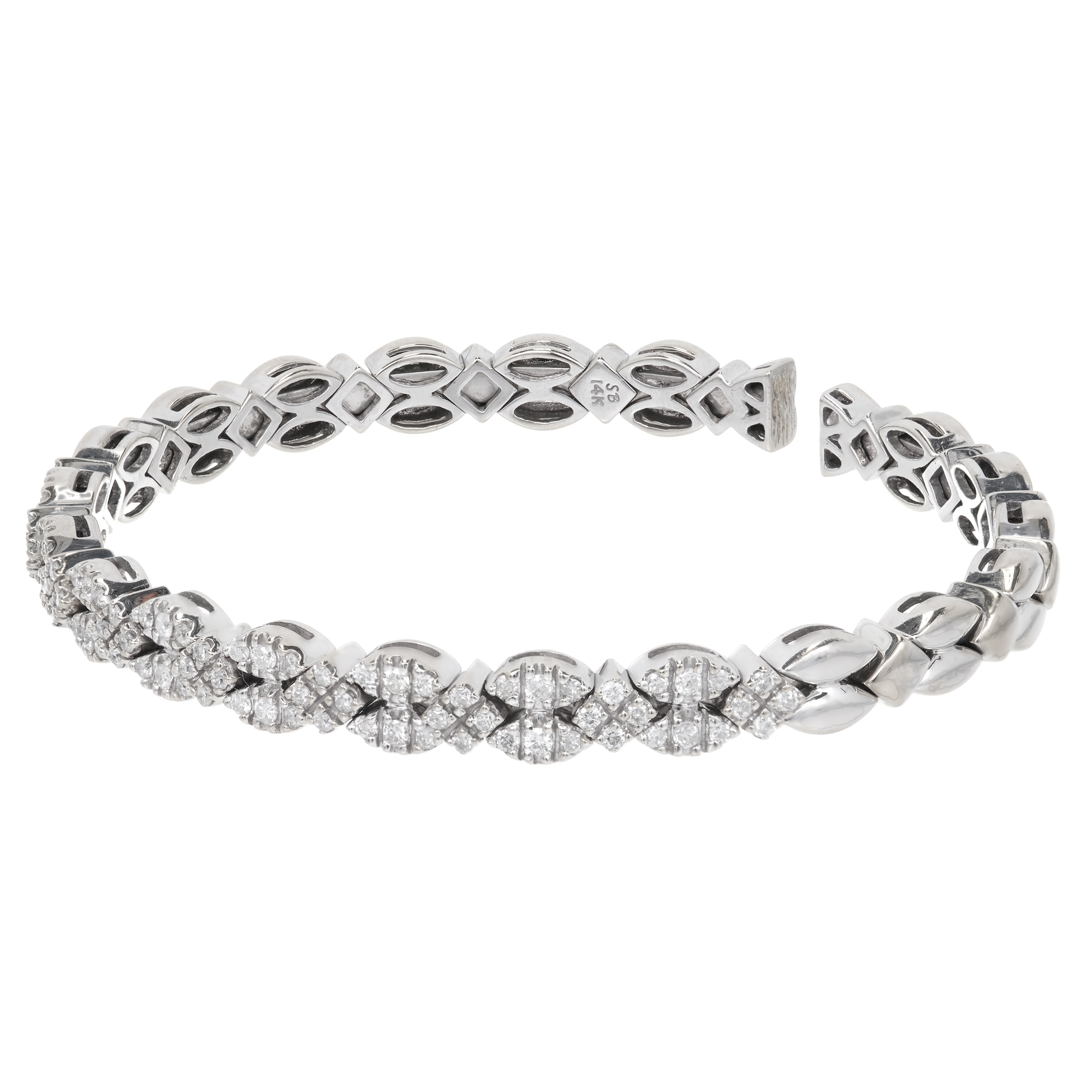 "Image of ""Sonia B 14K White Gold & 1.75ct. Diamond Flex Bracelet"""