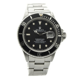 Rolex 168000 Submariner Stainless Steel Transitional Mens Watch