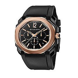 Bulgari OCTO Velocissimo Pink Gold Chrono Date Mens Watch BGO41BBSPGVDCH