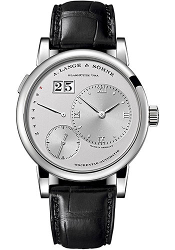 "Image of ""A. Lange and Sohne Lange 1 320.025 Platinum / Leather with Silver Dial"""