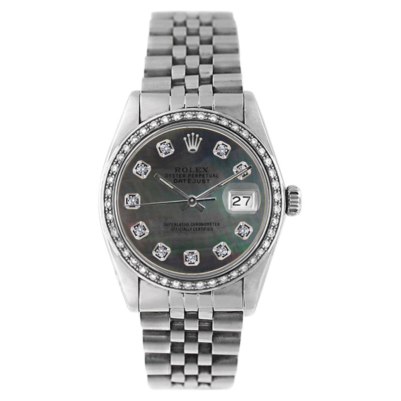 """Image of """"Rolex Datejust 16234 Stainless Steel Tahitian Mother Of Pearl 1ct"""""""