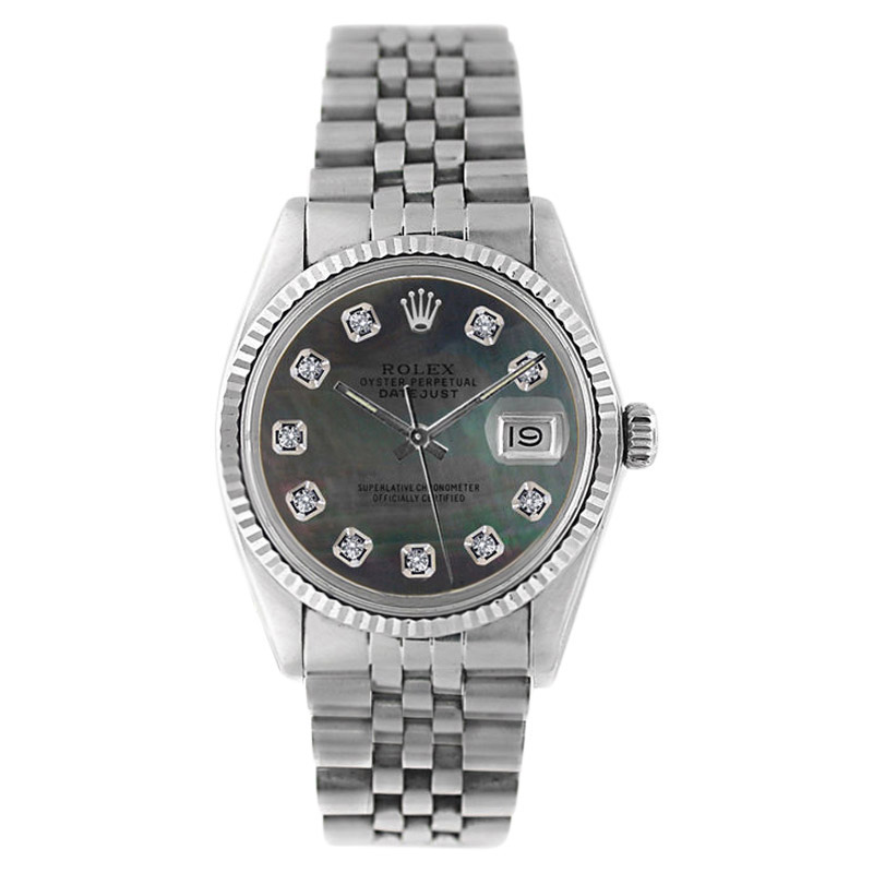 """Image of """"Rolex Datejust 16234 Stainless Steel Tahitian Mother Of Pearl Diamond"""""""