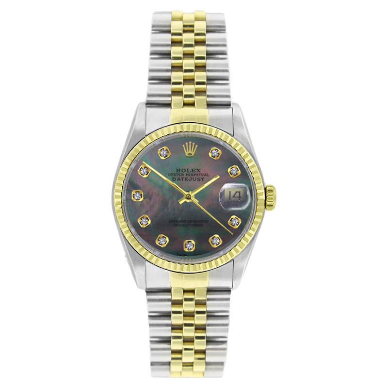 "Image of ""Rolex Datejust 16233 Stainless Steel & Gold Tahitian MOP Diamond Dial"""