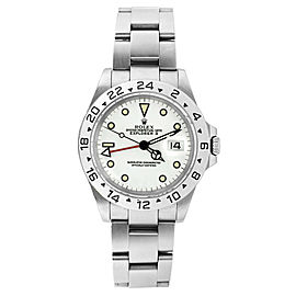 Rolex Explorer ll 16570 Stainless Steel White Face Mens Watch