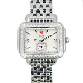 Michele Deco MV06C01 Stainless 0.50Ct Diamond Pave Bezel Watch