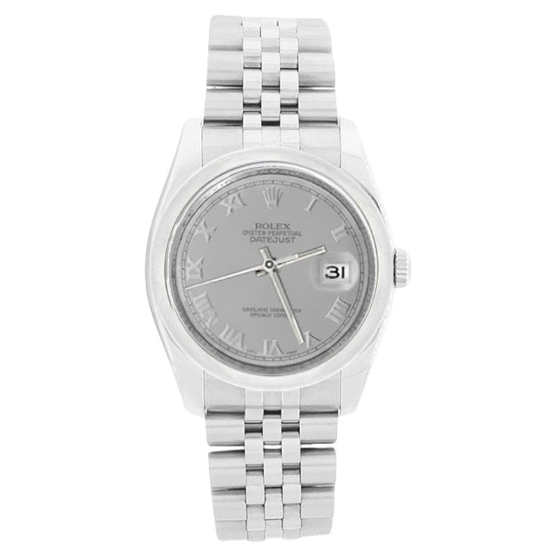 """Image of """"Rolex Datejust 116200 Jubilee Stainless Steel Silver Roman Dial"""""""