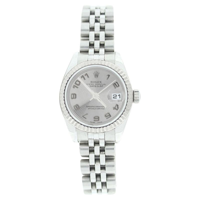 "Image of ""Rolex Datejust 179174 Stainless Steel Silver Con Arabic Dial 18K Gold"""