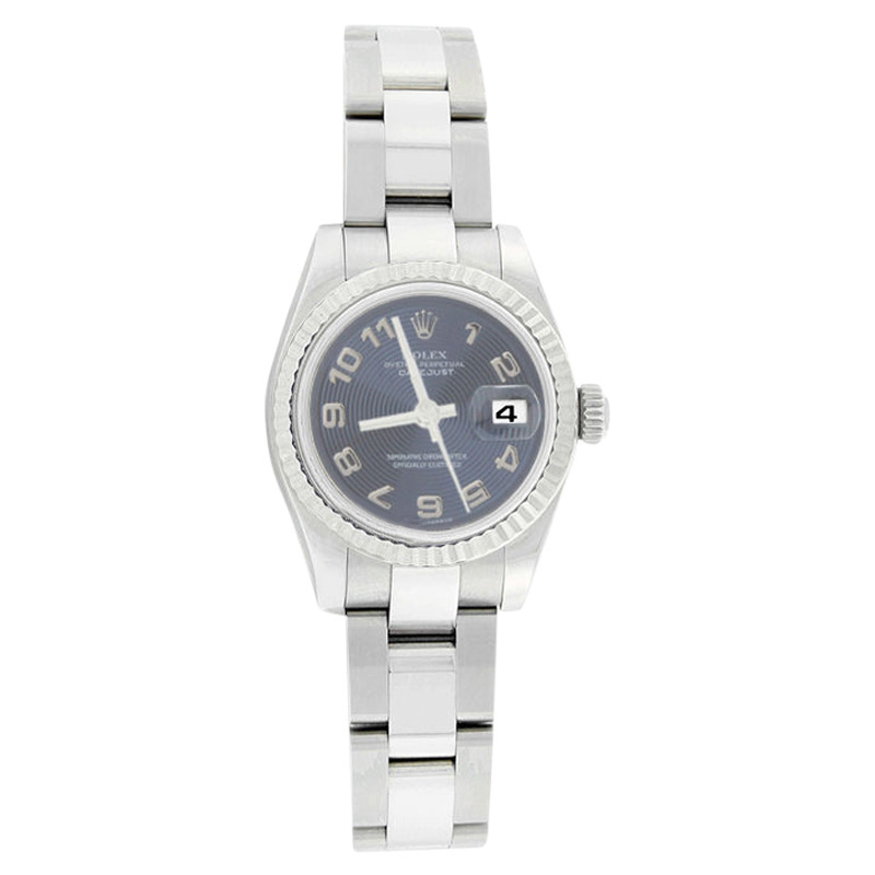 """Image of """"Rolex Datejust Oyster 179174 Stainless Steel Blue Con Arabic Womens"""""""