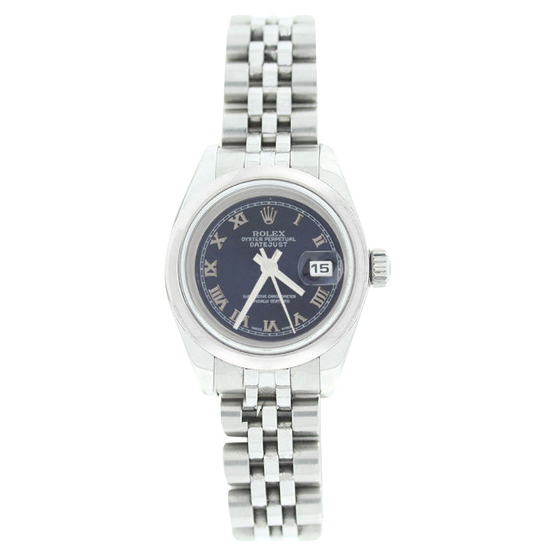 """Image of """"Rolex Datejust 179160 Stainless Steel Style Blue Roman Dial Smooth"""""""