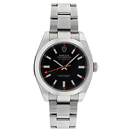 Rolex Milgauss 116400 Stainless Steel Black Dial Mens Watch