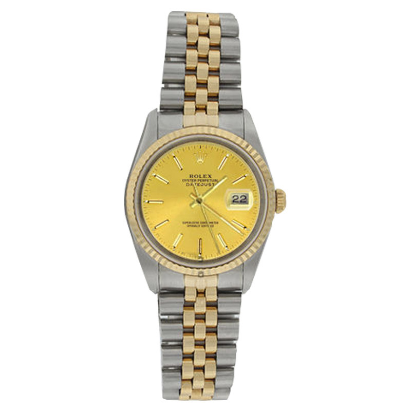 """Image of """"Rolex Datejust 16233 Stainless Steel & Gold Champagne Stick Dial 18K"""""""