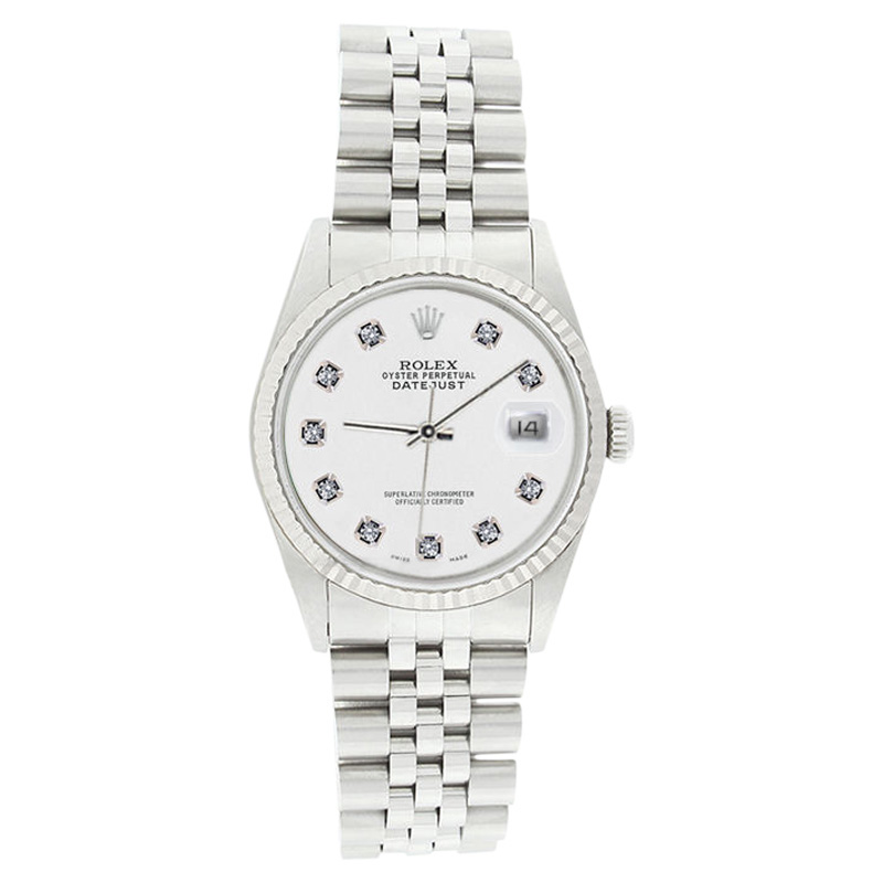 """Image of """"Rolex Datejust 16234 White Diamond Dial Stainless Steel 18K Gold"""""""