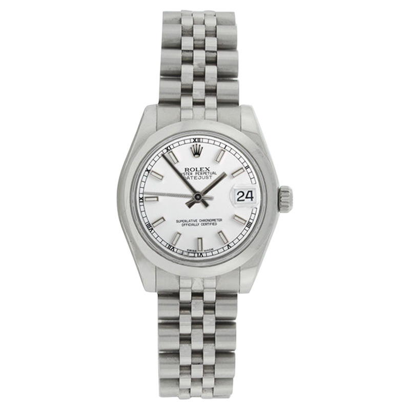 """Image of """"Rolex Midsize Datejust 178240 Stainless Steel Jubilee White Stick Dial"""""""