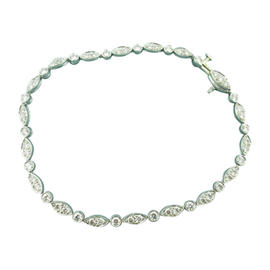 Tiffany & Co. Jazz Platinum Diamonds Bracelet
