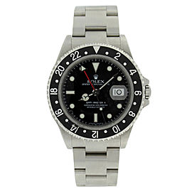 Rolex GMT Master II 16710 Stainless Steel Black Dial Mens Watch