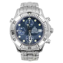 Omega Seamaster 1504/826 Stainless Steel 300m Dive Chronograph Blue Dial Men's