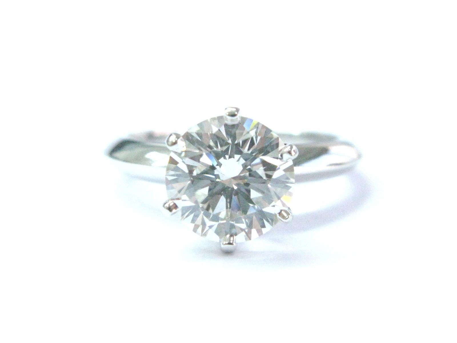 "Image of ""Tiffany & Co Platinum Round Diamond Solitaire Engagement Ring"""
