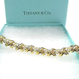 Tiffany & Co. 18K Yellow Gold Diamond Signature X Bracelet