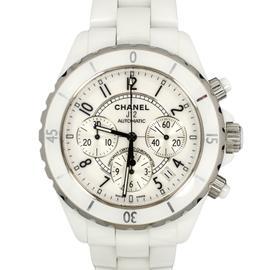 Chanel J12 H1077 White Ceramic 41mm Watch