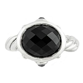 David Yurman Sterling Silver Onyx Ring 7.2 Grams Ring Size 8