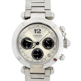 Cartier Pasha 2412 Chronograph Stainless Steel 42mm Watch