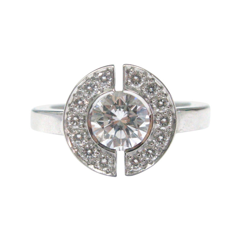 "Image of ""Chanel 18K White Gold Round Cut Diamond Engagement Ring"""