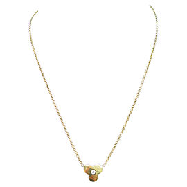 Mikimoto 18KT Clover Diamond Pendant Necklace