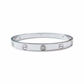 Cartier Love Bracelet W/G Half Dia Size 16