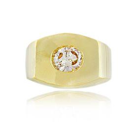 David Webb 18K Natural Pink Oval Diamond Ring