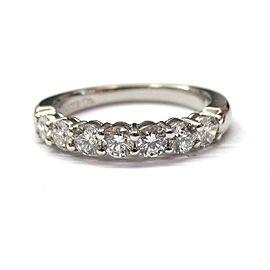 Tiffany & Co. Platinum Diamond Shared Setting Wedding Band Ring